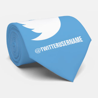 Follow Me On Twitter (Customizable Username) Neck Tie