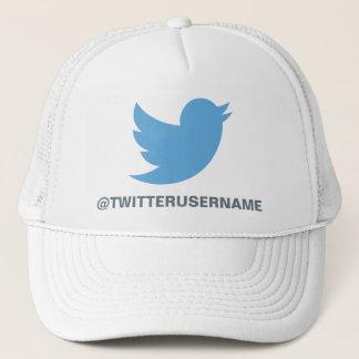 Follow Me On Twitter (Customizable Username) Trucker Hat