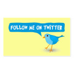 Follow Me On Twitter Yellow Profile Business Cards Business Cards