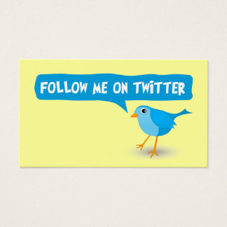 Follow Me On Twitter Yellow Profile Business Cards