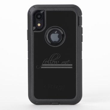 follow me OtterBox defender iPhone XR case