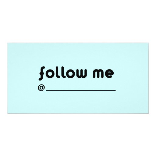 follow me @ picture card
