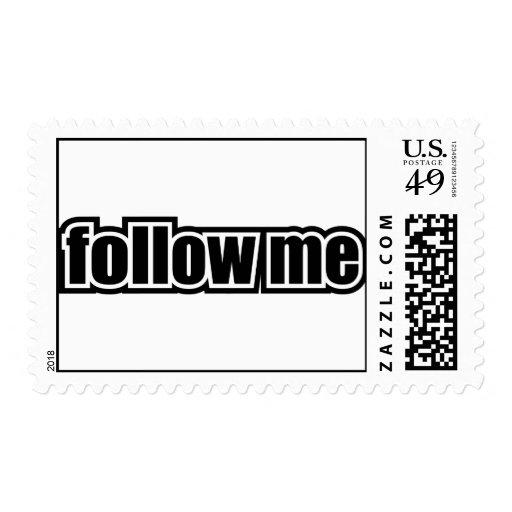 Follow Me Postage Stamp