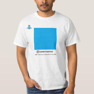 Follow Me Shirt - Twitter Bird, QR Code, Tag line