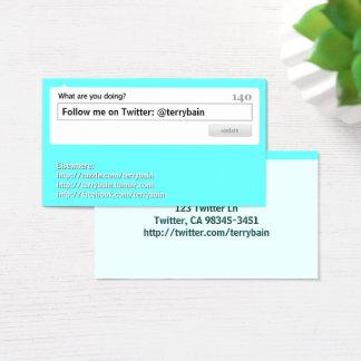 Follow Me Social Media Business Card