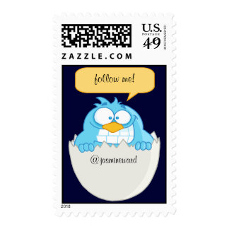 Follow Me Social Networking Postage Stamps