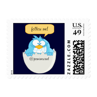 Follow Me Social Networking Postage Stamps (SMALL)
