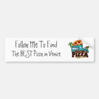 Follow me to Hashtag Pizza Bumper Sticker