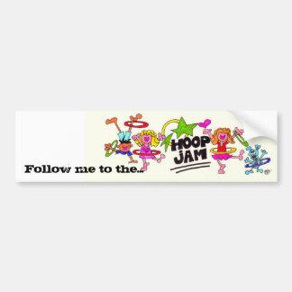 Follow me to the Hoop Jam Car Bumper Sticker