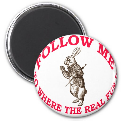 Follow Me To Where the Real Fun Is Refrigerator Magnet