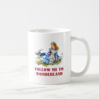 FOLLOW ME TO WONDERLAND COFFEE MUG
