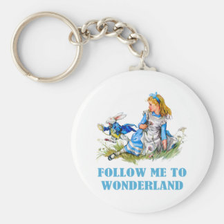 FOLLOW ME TO WONDERLAND KEYCHAIN