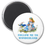 FOLLOW ME TO WONDERLAND REFRIGERATOR MAGNETS