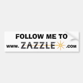 Follow me to www.zazzle.com CONTEST Car Bumper Sticker