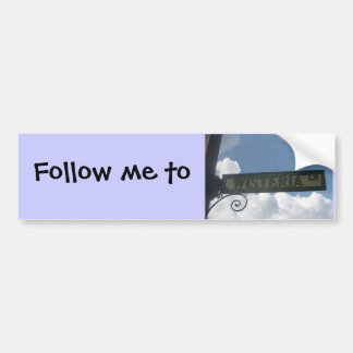 Follow me to Wysteria Lane Car Bumper Sticker