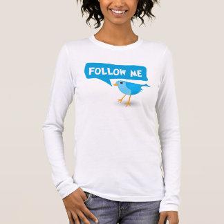 Follow Me Twitter Blue Bird Ladies Custom Top