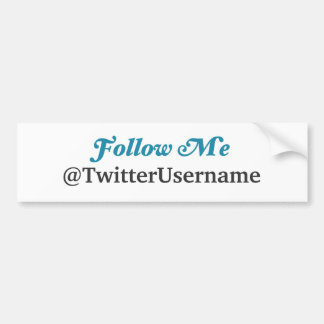 Follow Me Twitter Bumper Sticker (CUSTOMIZABLE)