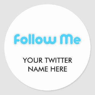 follow me (twitter) classic round sticker