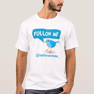 Follow Me Twitter Cute Little Cartoon Blue Bird T-Shirt