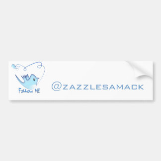 Follow ME Twitter  Gifts and Swirls T-shirts Car Bumper Sticker