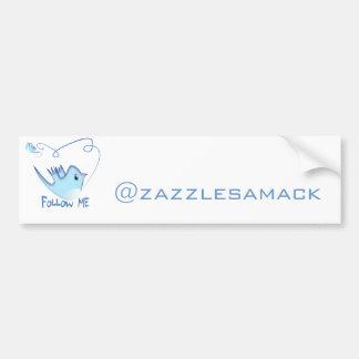 Follow ME Twitter  Gifts and Swirls T-shirts Car Bumper Sticker