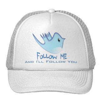 Follow ME Twitter  Gifts and Swirls T-shirts Trucker Hat
