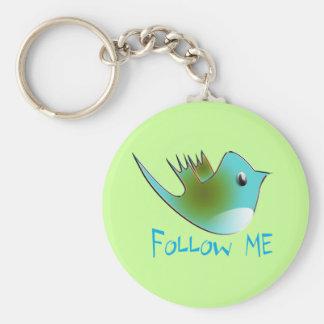 Follow ME Twitter  Gifts and Swirls T-shirts Keychain