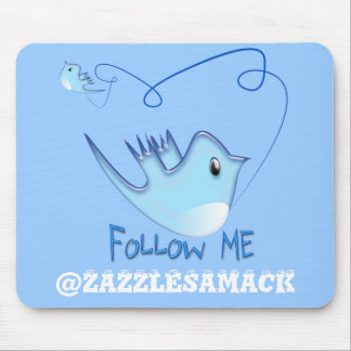 Follow ME Twitter  Gifts and Swirls T-shirts Mouse Pad