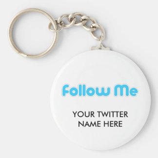 follow me (twitter) keychains