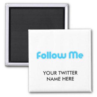 follow me (twitter) fridge magnet