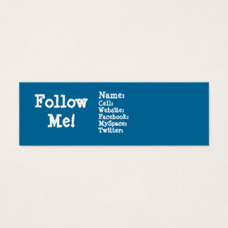Follow me! Twitter Mini Business Card
