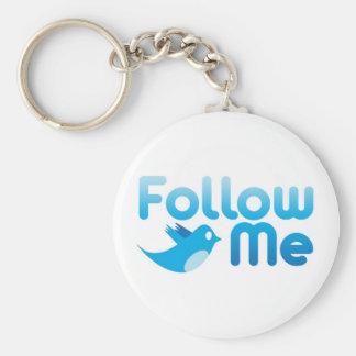 Follow Me Twitter Mr Funny Parody Basic Round Button Keychain