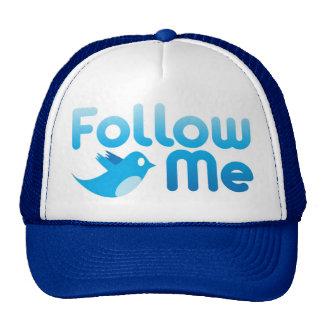 Follow Me Twitter Mr Funny Parody Trucker Hats