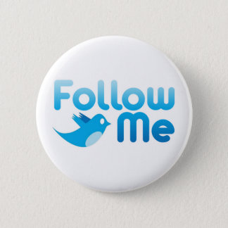Follow Me Twitter Mr Funny Parody Pinback Button