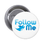 Follow Me Twitter Mr Funny Parody Pinback Buttons