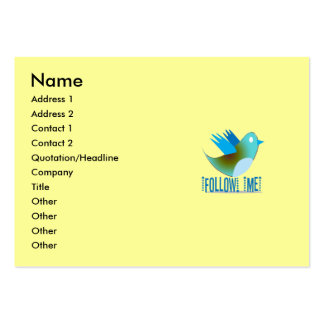 Follow Me @ YOUR Twitter Address Business Card Templates