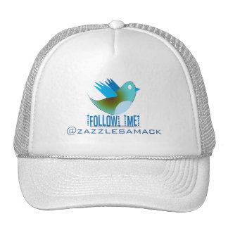 Follow Me @ YOUR Twitter Address Trucker Hat