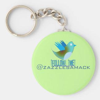 Follow Me @ YOUR Twitter Address Key Chain