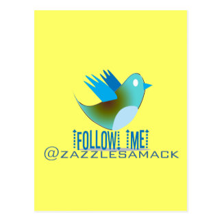 Follow Me @ YOUR Twitter Address Post Cards