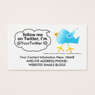 Follow Me @ (YourNameHere) Business Calling Cards