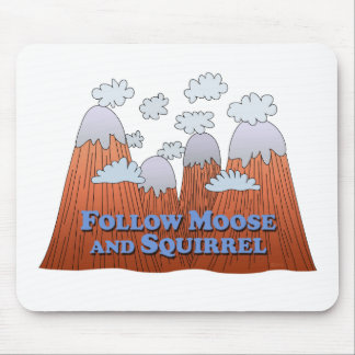 Follow Moose and Squirrel - Dark Mouse Pad