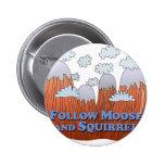 Follow Moose and Squirrel - Dark Pins