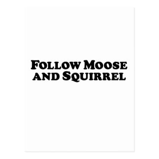 Follow Moose and Squirrel - Mixed Clothes Postcard