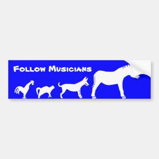 Follow Musicians - Musicians Evolution Bumper Sticker