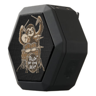 Follow my own beat black bluetooth speaker