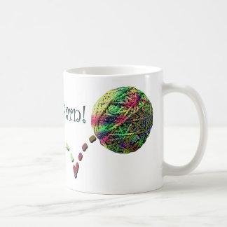 Follow that yarn! coffee mug