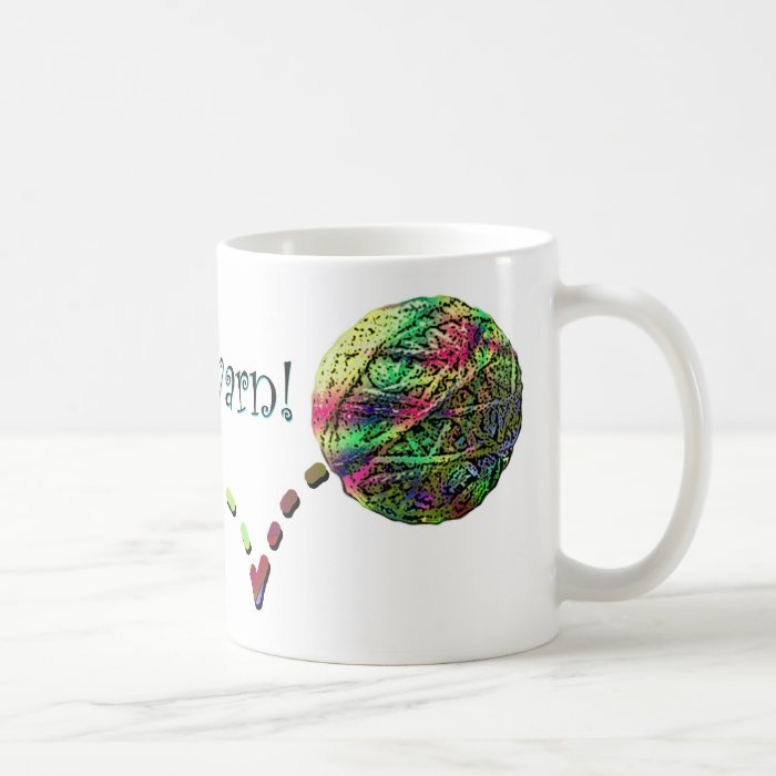 Follow that yarn! coffee mug