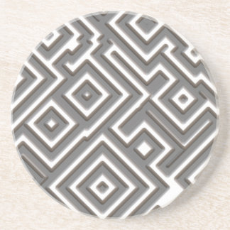 Follow the Amazing Maze Pattern Drink Coaster