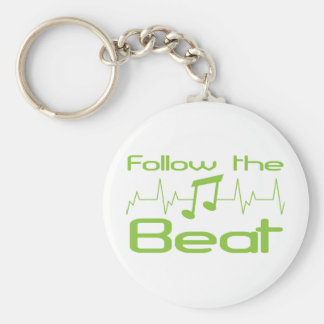 Follow the beat keychain