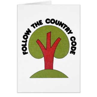 Follow The Country Code Card